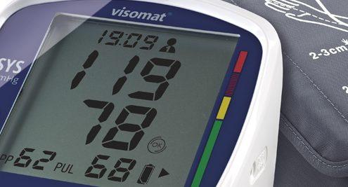 Es wird ein normaler Blutdruck angezeigt. Es droht kein Herzinfarkt.