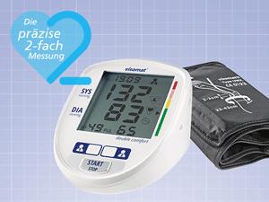 Das Blutdruckmessgerät visomat double comfort mit der präzisen 2-fach Messung, das neben dem Blutdruck auch den Puls misst.